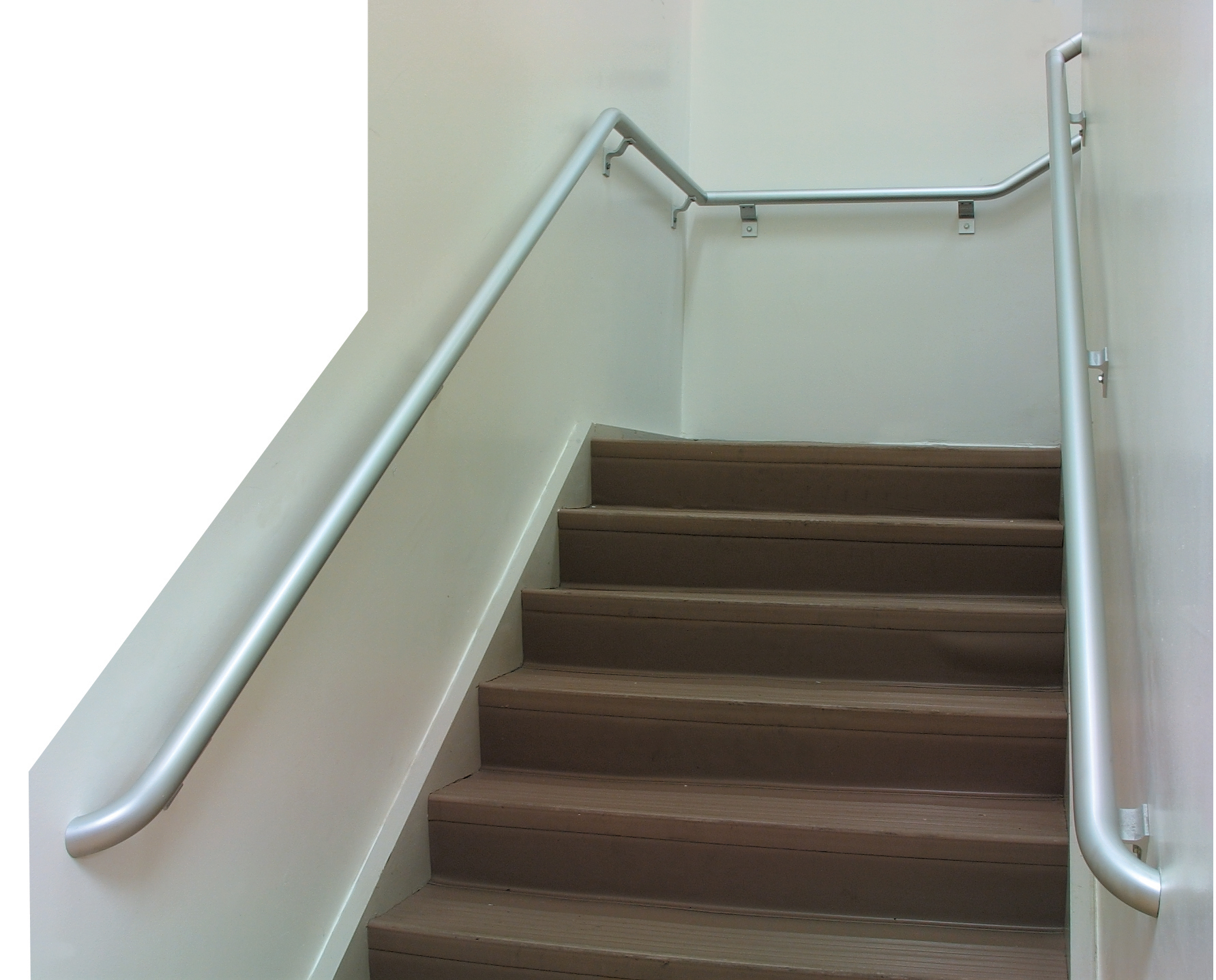 Stairway with Pipe Handrail on Both Sides