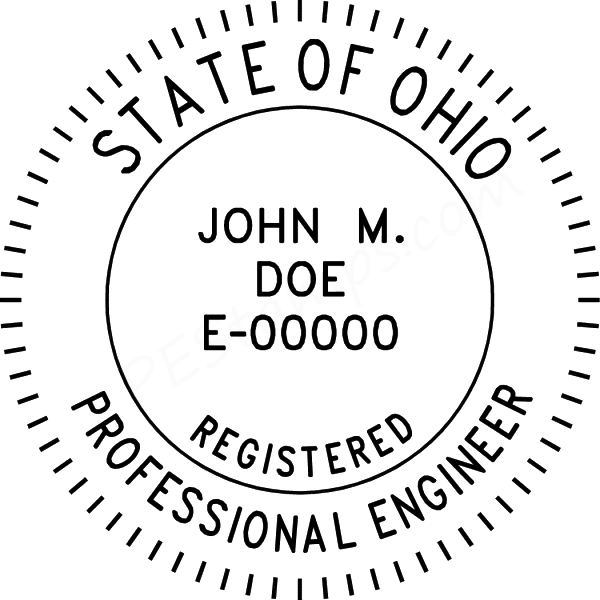 Sample PE stamp for Ohio